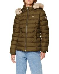 Tommy Hilfiger Donna Essential Hooded Down Jacket Giacca - Multicolore
