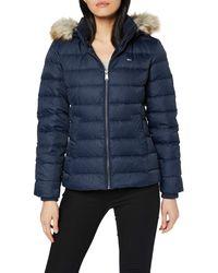 Tommy Hilfiger Damen Tjw Essential Hooded Down Jacket Jacke - Blau