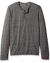 AG Jeans - Clyde Long Sleeve Heathered Henley - Lyst