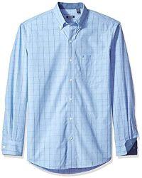 Izod - Premium Performance Natural Stretch Windowpane Long Sleeve Shirt - Lyst