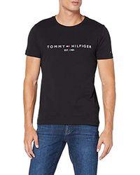 Tommy Hilfiger Tommy Logo Tee T-Shirt Homme - Noir