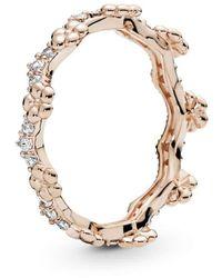 PANDORA Ringe 925 Sterlingsilber zirkonia '- Ringgröße 54 187924CZ-54 - Mettallic