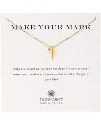 Dogeared - 'make Your Mark' Spike Charm Bead Chain Necklace - Lyst