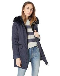 15535f07265 Parka With Faux Fur Lined Hood - Blue