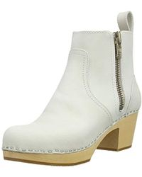Swedish Hasbeens Zip It Emy Ankle Boot - Natural