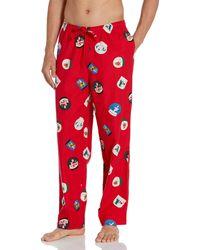 Amazon Essentials Flannel Pajama Pant Pantalones - Rojo