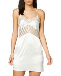 Calvin Klein Chemise Camicia da Notte - Bianco