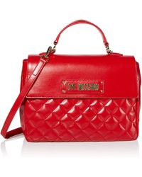 Love Moschino Borsa Quilted Nappa Pu - Rouge