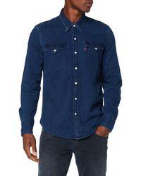 Levi's Barstow Western Chemise en Jean - Bleu