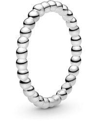 PANDORA Verlobungsringe 925_Sterling_Silber mit '- Ringgröße 56 190615-56 - Mettallic