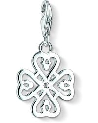 Thomas Sabo - Charm Pendant Clover Leaf Charm Club 925 Sterling Silver White 1323-051-14 - Lyst
