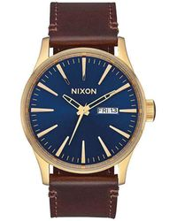 Nixon Analog Japanischer Quarz Uhr mit Echtes Leder Armband A105-3320-00 - Braun