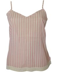 Calvin Klein Deisgner Sleepwear Cotton Camisole Pink Stripe