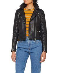 Vero Moda Vmapril Short Faux Leather Jacket Noos - Black