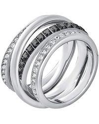Swarovski Ring Dynamic rhodiniert Kristall transparent Gr. 55 (17.5) - Mettallic
