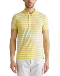 Esprit 020ee2k304 Camisa de Polo - Amarillo