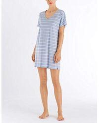 Hanro Camicia da Notte Donna - Blu