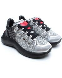 Love Moschino Sneakers JA15636 Glitt Nap Arge Ne Glitter Argent - Métallisé