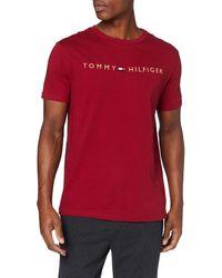 Tommy Hilfiger Cn Ss Tee Logo Gold T-shirt - Red