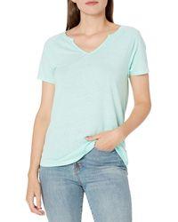 Goodthreads - Linen Modal T-Shirt à ches Courtes et col Rond Fashion - Lyst