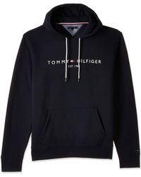 Tommy Hilfiger - Logo Overhead Hoodie Grey/grey - Lyst