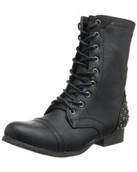 Madden Girl Gallyyy Lace-up Boot - Black