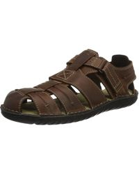 Geox U Rufus A Closed Toe Sandals - Brown