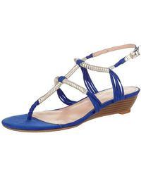 Enzo Angiolini Khanna2 Wedge Sandal - Blue