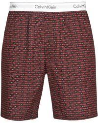 Calvin Klein Sleep Short Bas De Pyjama - Rouge