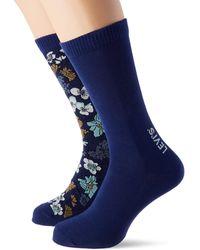 Levi's Flower All-Over Print Regular Cut Socks - Bleu