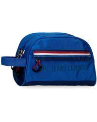 Pepe Jeans Neceser Doble Compartimento Adaptable Overlap - Azul