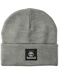 427de4dc9 Short Watch Cap With Woven Label Cold Weather Hat - Gray