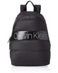 Calvin Klein Puffer Round Backpack - Shoppers y bolsos de hombro Hombre - Negro