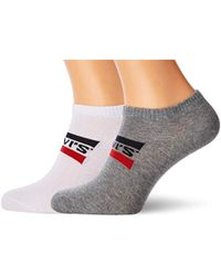 Levi's 168sf Low Cut Sprtswr Logo 2p Ankle Socks, (pack Of 2 - Gray