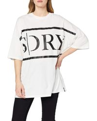 Superdry Edit Oversized tee Camiseta para Mujer - Neutro