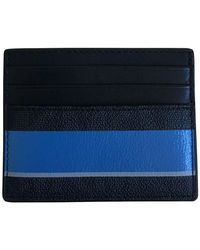 Michael Kors Jet Set S Stripe Holder Wallet Tall Card Case - Blue