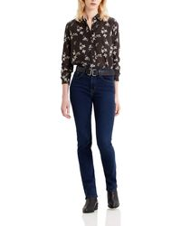 Levi's 724 High Rise Straight Jeans - Blu