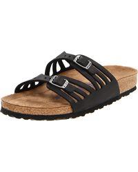 Birkenstock Granada Soft Footbed Sandals - Black