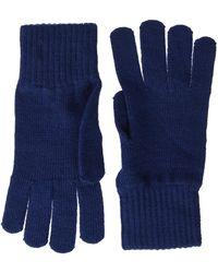 Tommy Hilfiger Basic Knit Denim Gloves - Blue