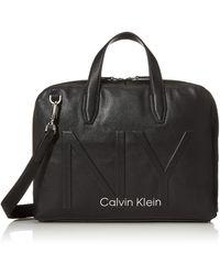 Calvin Klein Shaped Laptop Bag - Negro