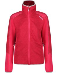 Regatta S/ladies Laney Iv Full Zip Marl Knit Fleece Casual Jacket - Red