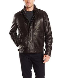 Cole Haan - Leather Aviator Jacket - Lyst