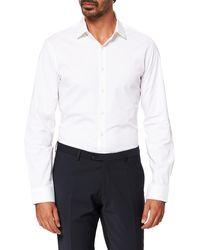 Calvin Klein Poplin Stretch Slim Shirt - White