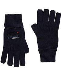 Superdry Orange Label Glove Blue (eclipse Navy/black Grit Uy7)