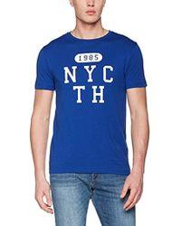 656121400 Wcc Hero C-nk Tee S/s Rf T-shirt - Blue