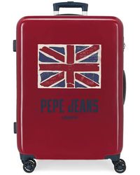 Pepe Jeans Valise Moyenne Rigide 68cm Andy - Rouge