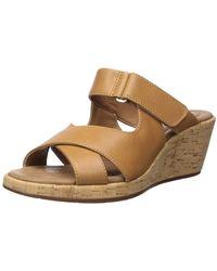 Clarks Un Plaza Slide Wedge Sandal - Brown