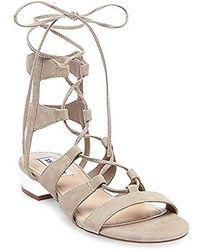 38a500f52f8 Lyst - Steve Madden Orka Flatform Sandals in Brown