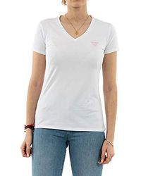 Guess - Ss Vn Mini Triangle T-shirt - Lyst