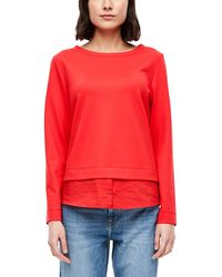 S.oliver - Sweatshirt im Layer-Look red 42 - Lyst